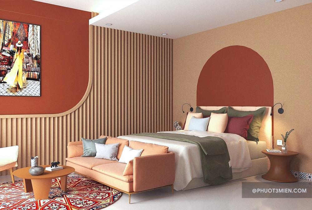 Phòng ngủ tại Villa Maris